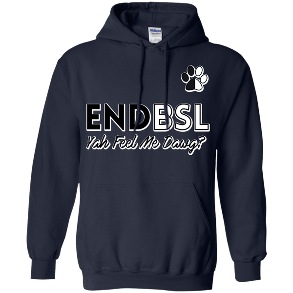 End BSL - G185 Gildan Pullover Hoodie 8 oz. Navy Small - Little Pit Shop