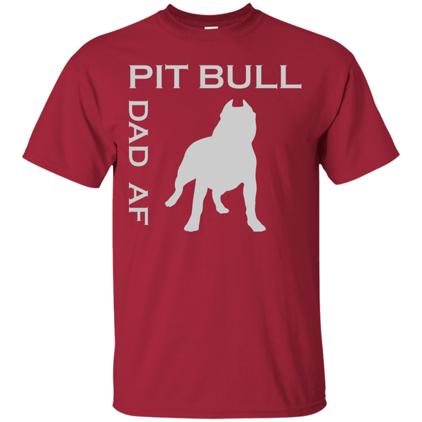 Pit Bull Dad AF - G200 Gildan Ultra Cotton T-Shirt Cardinal Small - Little Pit Shop