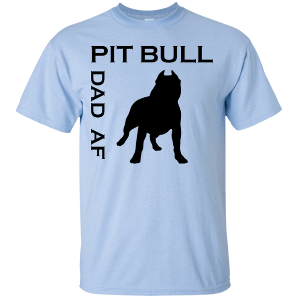 Pit Bull Dad AF - G200 Gildan Ultra Cotton T-Shirt Light Blue Small - Little Pit Shop
