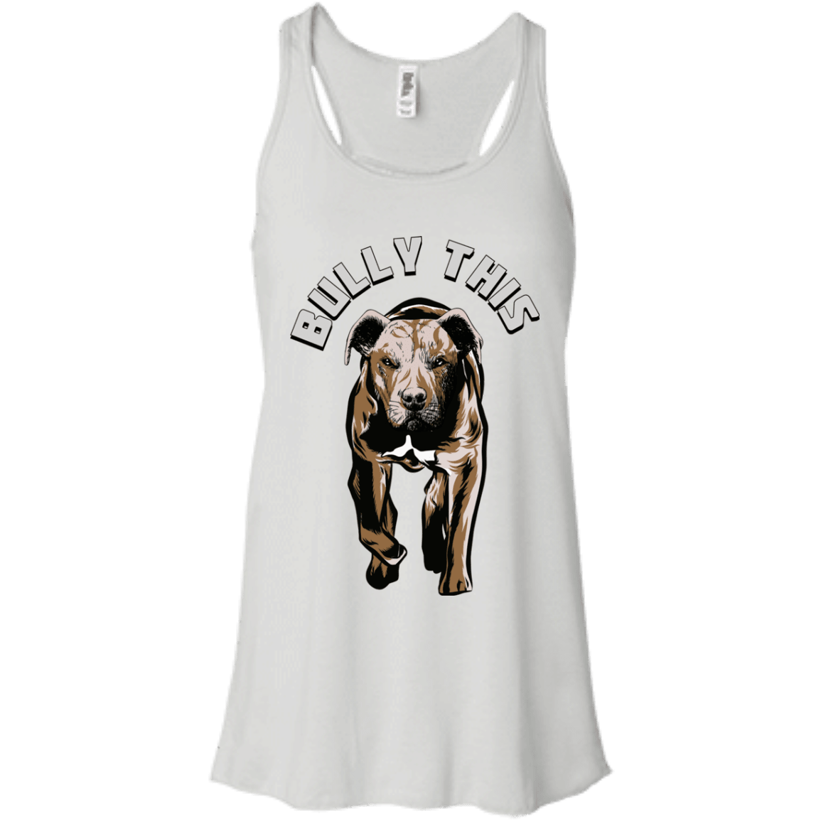 Bully This! - B8800 Bella + Canvas Flowy Racerback Tank White X-Small - Little Pit Shop