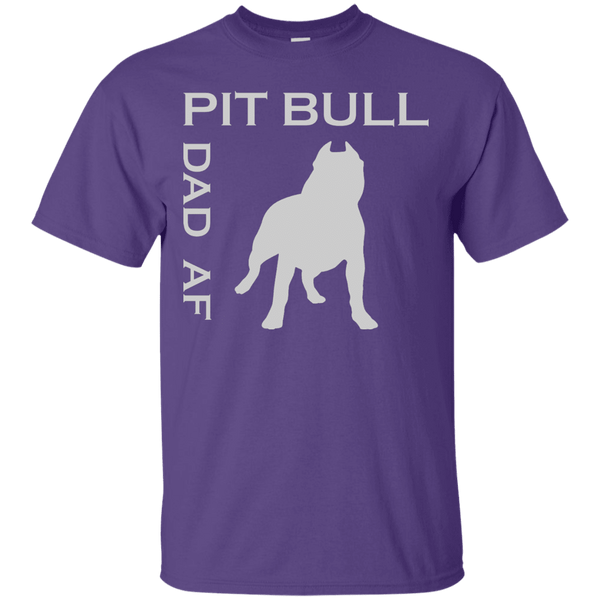 Pit Bull Dad AF - G200 Gildan Ultra Cotton T-Shirt Purple Small - Little Pit Shop