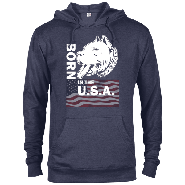 Born in the USA - 97200 Delta French Terry Hoodie Dark Denim Heather X-Small - Little Pit Shop