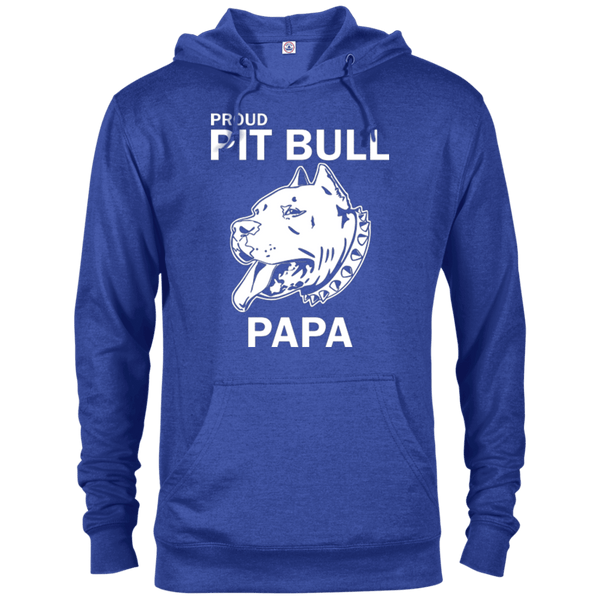 Proud Pit Bull Papa - 97200 Delta French Terry Hoodie Dark Royal Heather X-Small - Little Pit Shop