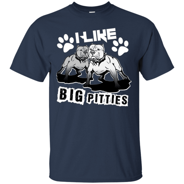 I Like Big Pitties Lt - G200 Gildan Ultra Cotton T-Shirt Navy Small - Little Pit Shop