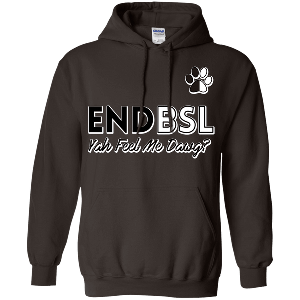 End BSL - G185 Gildan Pullover Hoodie 8 oz. Dark Chocolate Small - Little Pit Shop