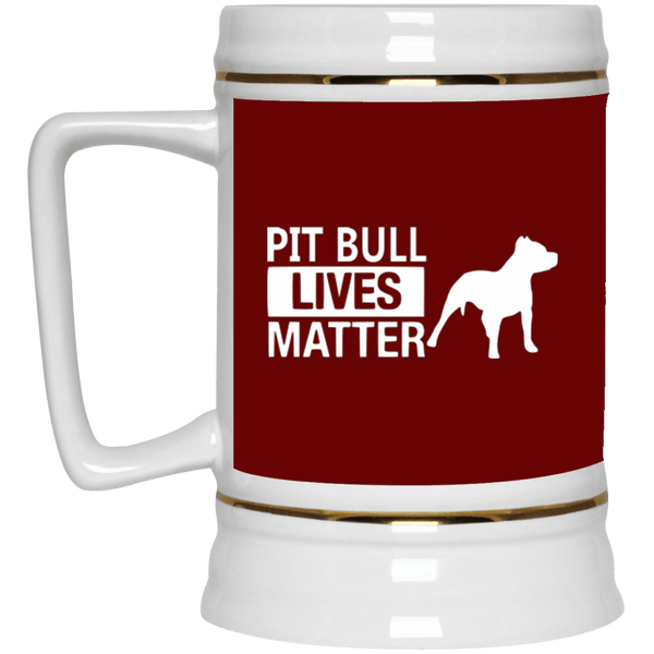 Pit Bull Lives Matter - 22217 Beer Stein 22oz. Maroon One Size - Little Pit Shop