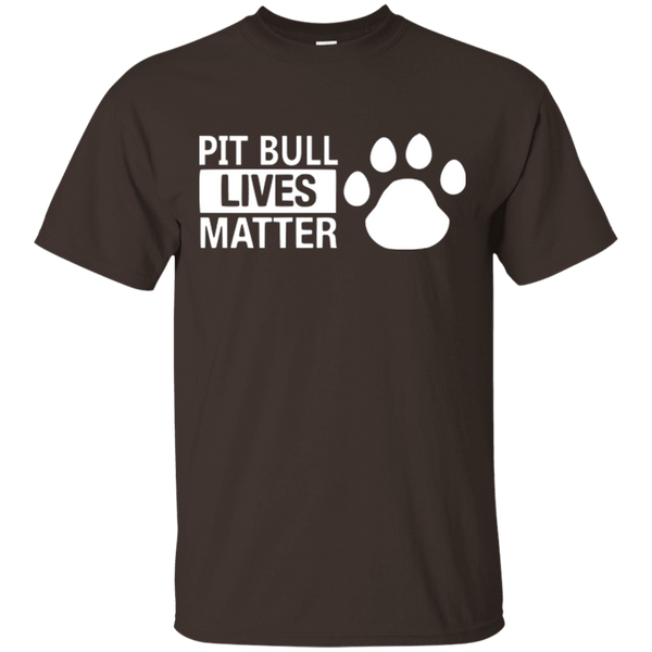 Pit Bull Lives Matter - G200 Gildan Ultra Cotton T-Shirt Dark Chocolate Small - Little Pit Shop