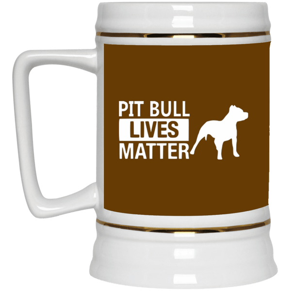 Pit Bull Lives Matter - 22217 Beer Stein 22oz. Brown One Size - Little Pit Shop