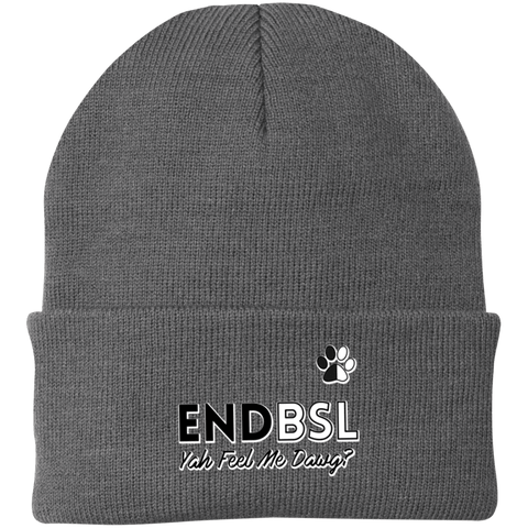 End BSL - CP90 Port Authority Knit Cap by Little Pit Shop Gray One Size - Little Pit Shop