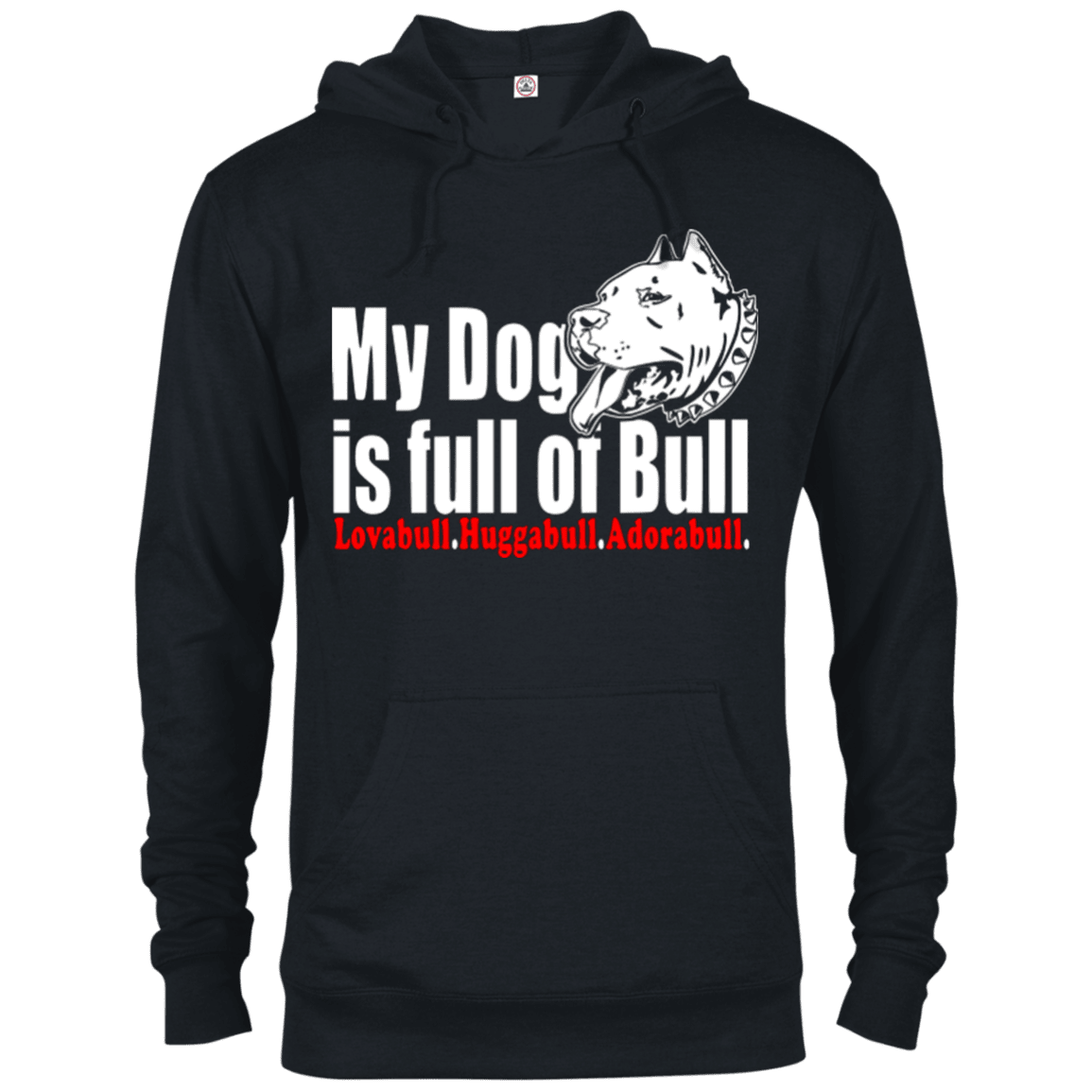 Full Of Bull - 97200 Delta French Terry Hoodie Dark Black X-Small - Little Pit Shop