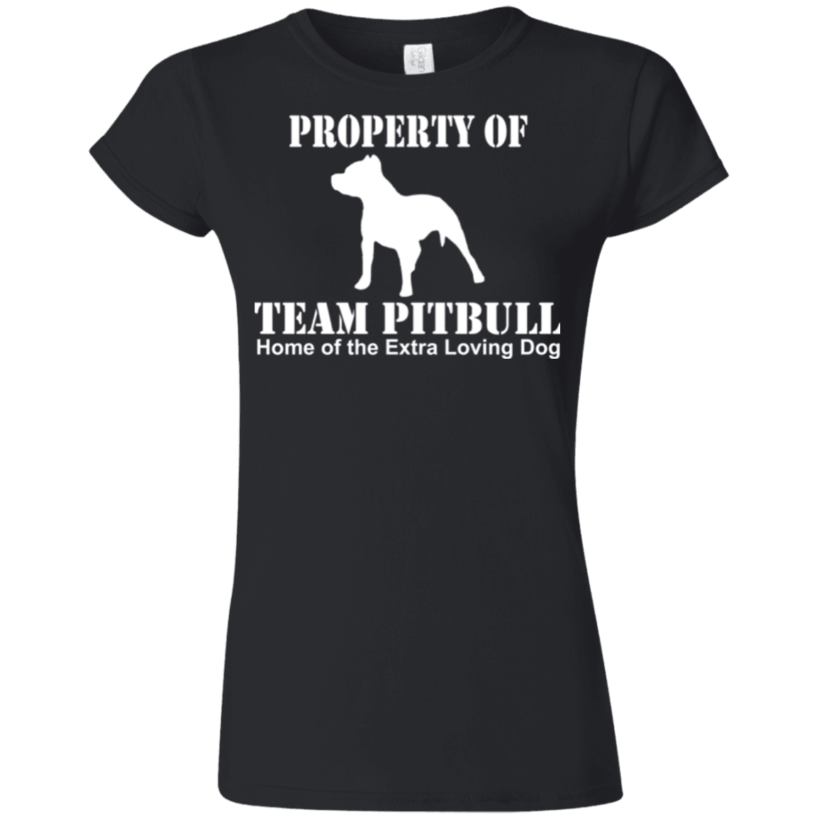 Team Pit Bull - G640L Gildan Softstyle Ladies' T-Shirt Dark Black Small - Little Pit Shop