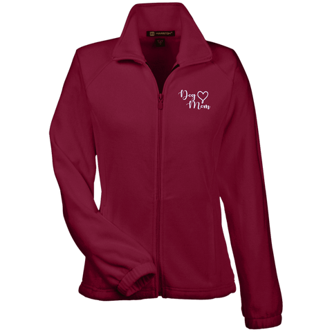 Dog Mom Wht Prnt - M990W Harriton Women's Fleece Jacket, Jackets | Pit Bull T Shirts, Hoodies and more | Little Pit Shop
