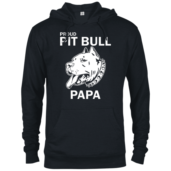 Proud Pit Bull Papa - 97200 Delta French Terry Hoodie Dark Black X-Small - Little Pit Shop
