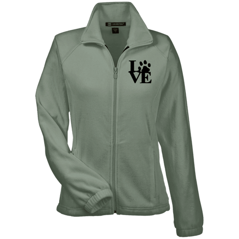Love Paw Blck Prnt - M990W Harriton Women's Fleece Jacket Dill X-Small - Little Pit Shop
