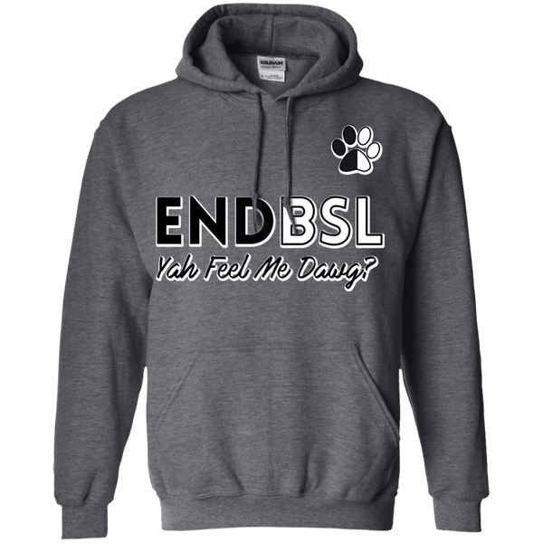 End BSL - G185 Gildan Pullover Hoodie 8 oz. Dark Heather Small - Little Pit Shop