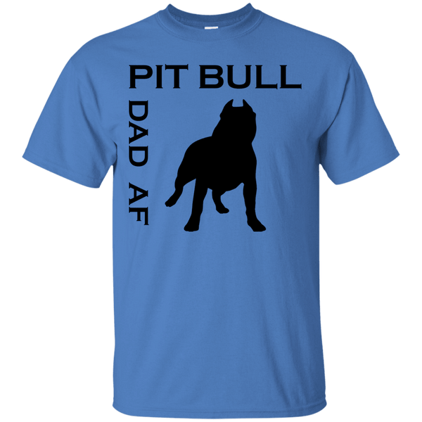 Pit Bull Dad AF - G200 Gildan Ultra Cotton T-Shirt Iris Small - Little Pit Shop