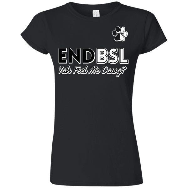End BSL - G640L Gildan Softstyle Ladies' T-Shirt Black Small - Little Pit Shop