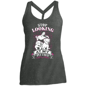 Stop Looking - DM466 District Made Ladies Cosmic Twist Back Tank Black/Grey Cosmic X-Small - Little Pit Shop