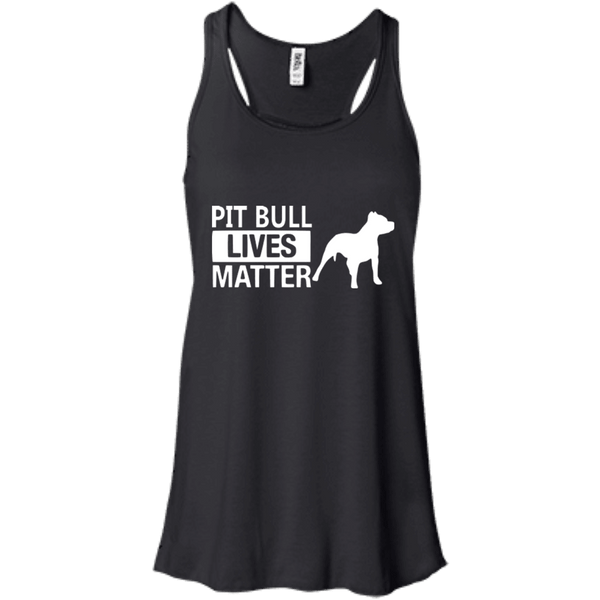 Pit Bull Lives Matter - B8800 Bella + Canvas Flowy Racerback Tank Black X-Small - Little Pit Shop