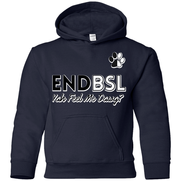 End BSL - G185B Gildan Youth Pullover Hoodie Navy YS - Little Pit Shop