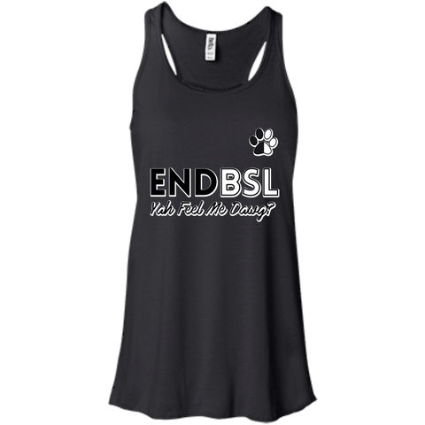 End BSL - B8800 Bella + Canvas Flowy Racerback Tank Black X-Small - Little Pit Shop