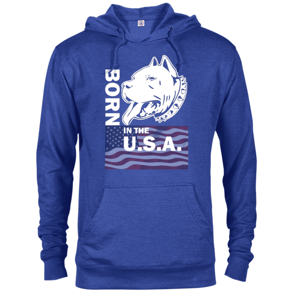 Born in the USA - 97200 Delta French Terry Hoodie Dark Royal Heather X-Small - Little Pit Shop
