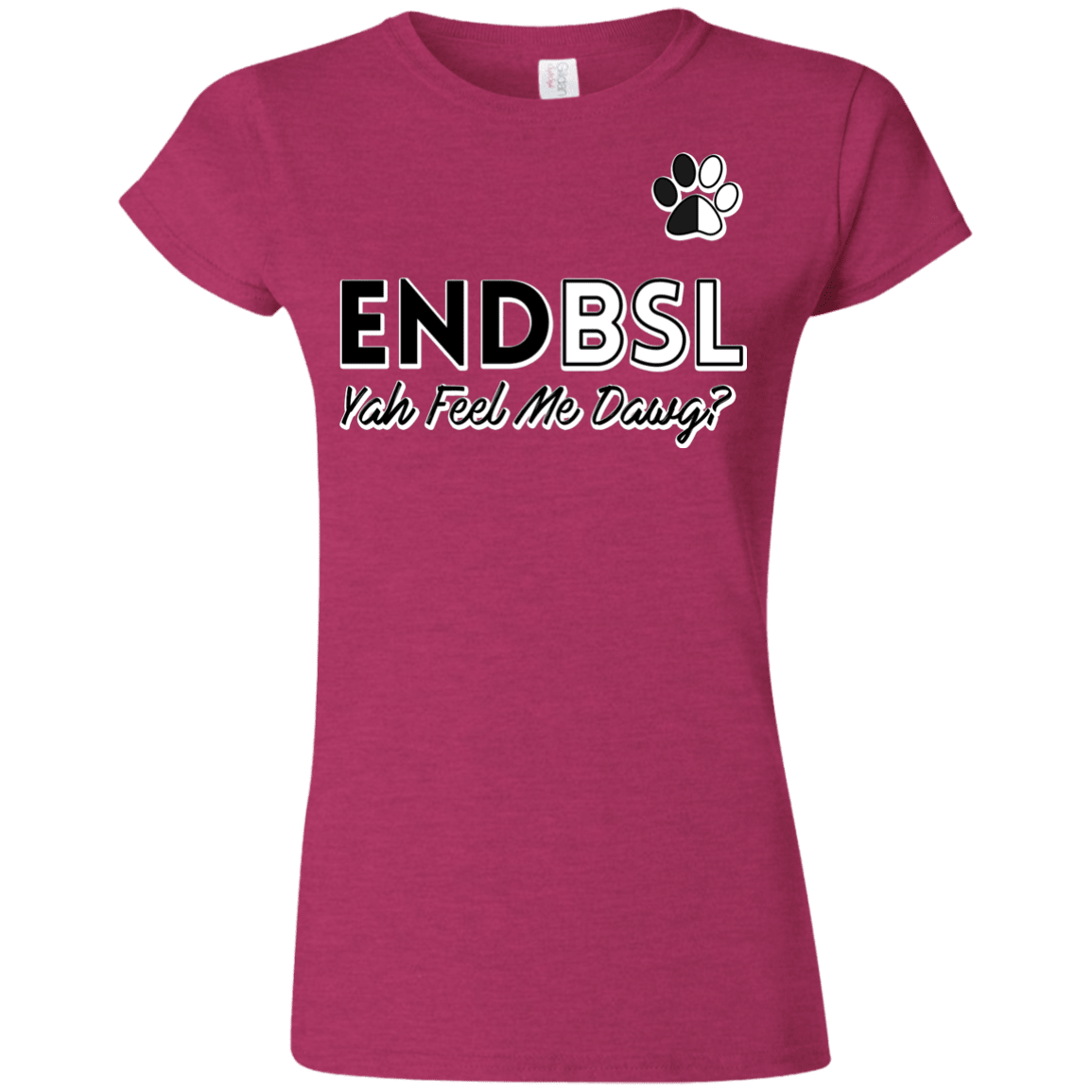 End BSL - G640L Gildan Softstyle Ladies' T-Shirt Antique Heliconia Small - Little Pit Shop