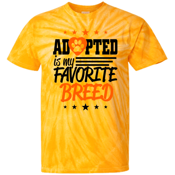 Adopted - CD100Y Youth Tie Dye T-Shirt Spider Gold YXS - Little Pit Shop