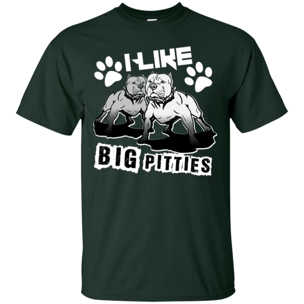 I Like Big Pitties Lt - G200 Gildan Ultra Cotton T-Shirt Forest Green Small - Little Pit Shop