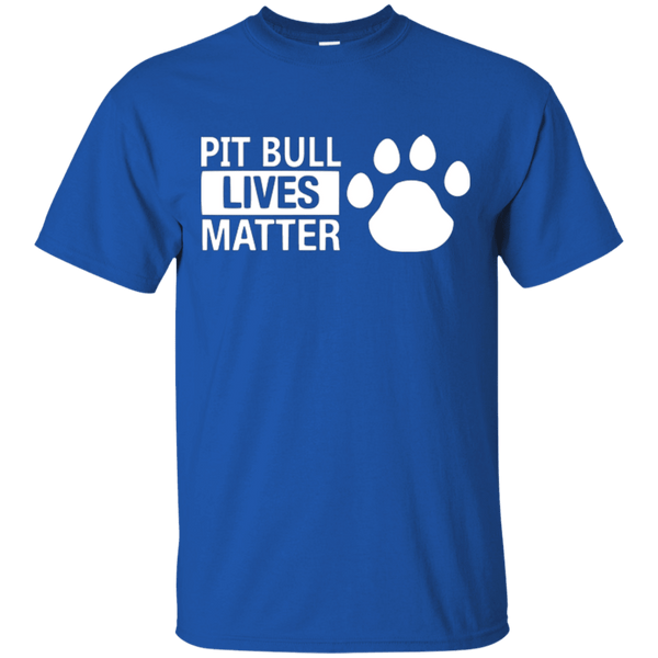 Pit Bull Lives Matter - G200 Gildan Ultra Cotton T-Shirt Royal Small - Little Pit Shop