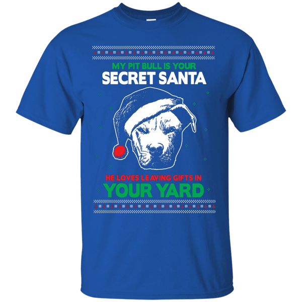 Secret Santa - G200 Gildan Ultra Cotton T-Shirt by Little Pit Shop Royal Small - Little Pit Shop