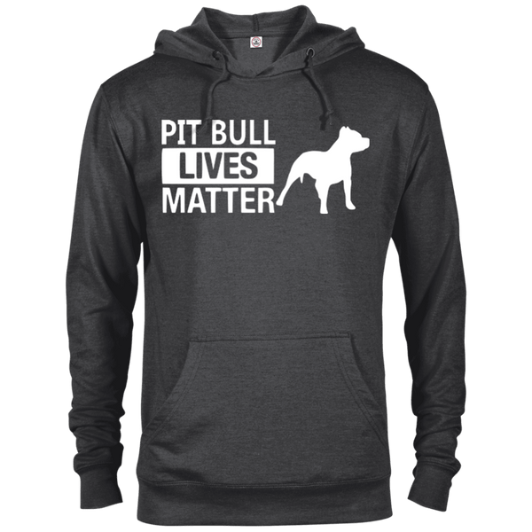 Pit Bull Lives Matter - 97200 Delta French Terry Hoodie Dark Charcoal Heather X-Small - Little Pit Shop