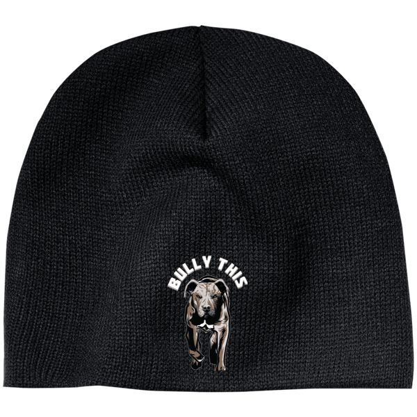 Bully This! - CP91 100% Acrylic Beanie by Little Pit Shop Black One Size - Little Pit Shop