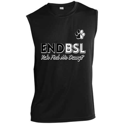 End BSL - ST352 Sport-Tek Sleeveless Performance T-Shirt Black X-Small - Little Pit Shop