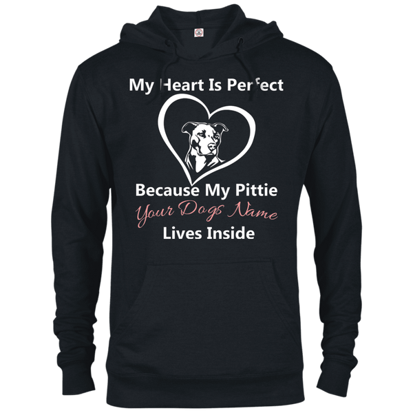 My Heart Personalized - 97200 Delta French Terry Hoodie Dark Black X-Small - Little Pit Shop