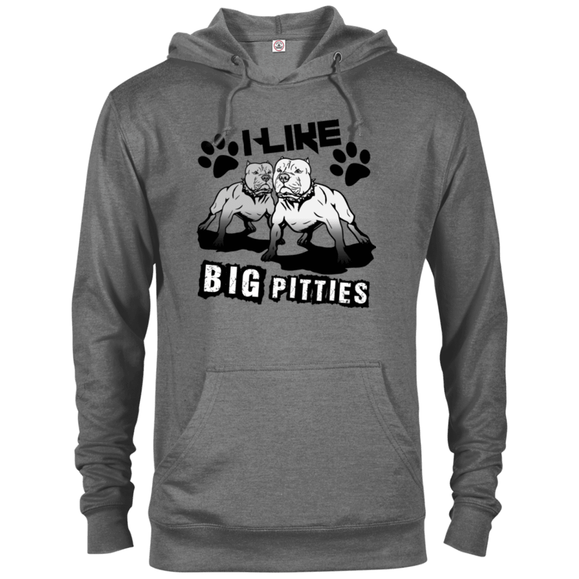 I Like Big Pitties Drk - 97200 Delta French Terry Hoodie Graphite Heather X-Small - Little Pit Shop