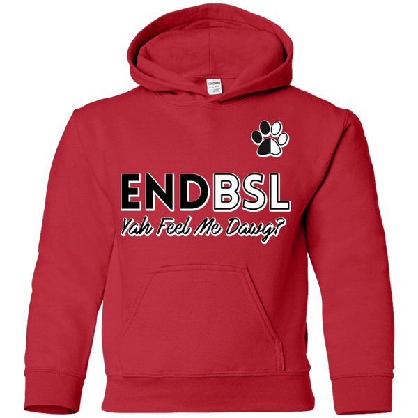 End BSL - G185B Gildan Youth Pullover Hoodie Red YS - Little Pit Shop