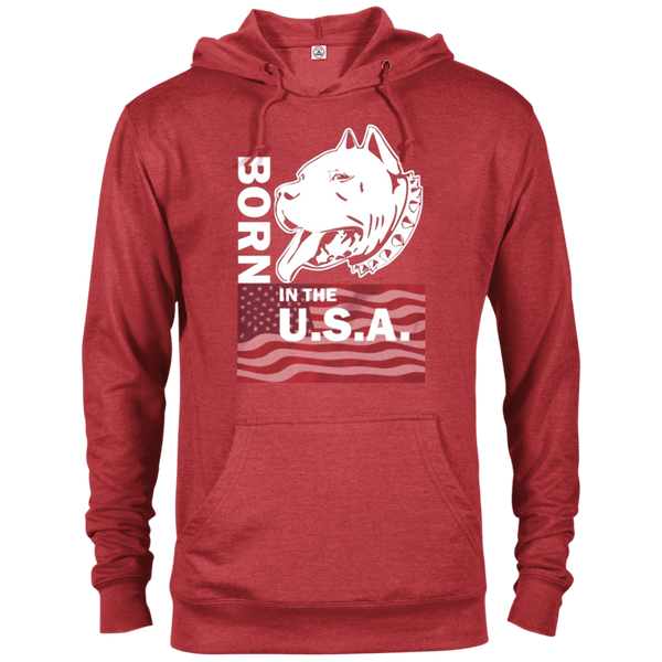 Born in the USA - 97200 Delta French Terry Hoodie Dark Red Heather X-Small - Little Pit Shop