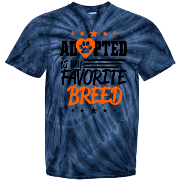 Adopted - CD100Y Youth Tie Dye T-Shirt Spider Navy YXS - Little Pit Shop
