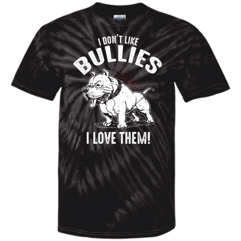 I Don't Like Bullies! - CD100 100% Cotton Tie Dye T-Shirt Spider Black Small - Little Pit Shop