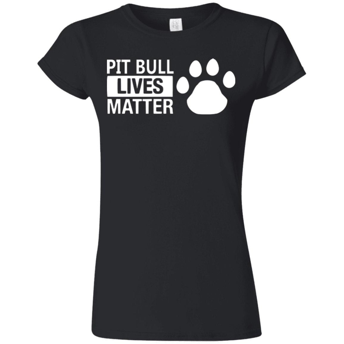 Pit Bull Lives Matter - G640L Gildan Softstyle Ladies' T-Shirt Dark Black Small - Little Pit Shop