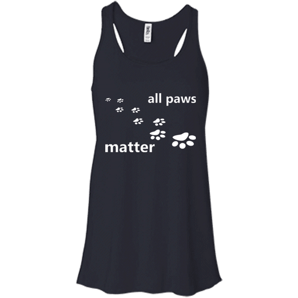 All Paws Matter - B8800 Bella + Canvas Flowy Racerback Tank Midnight X-Small - Little Pit Shop