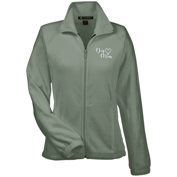 Dog Mom Wht Prnt - M990W Harriton Women's Fleece Jacket Dill X-Small - Little Pit Shop