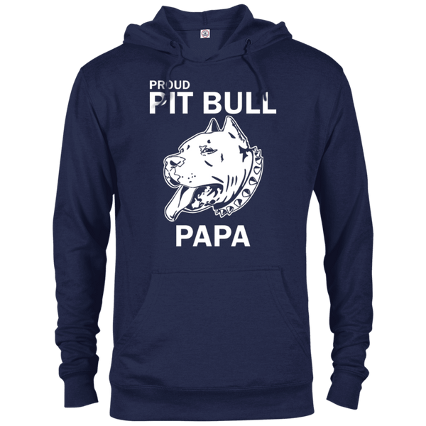 Proud Pit Bull Papa - 97200 Delta French Terry Hoodie Dark Navy X-Small - Little Pit Shop