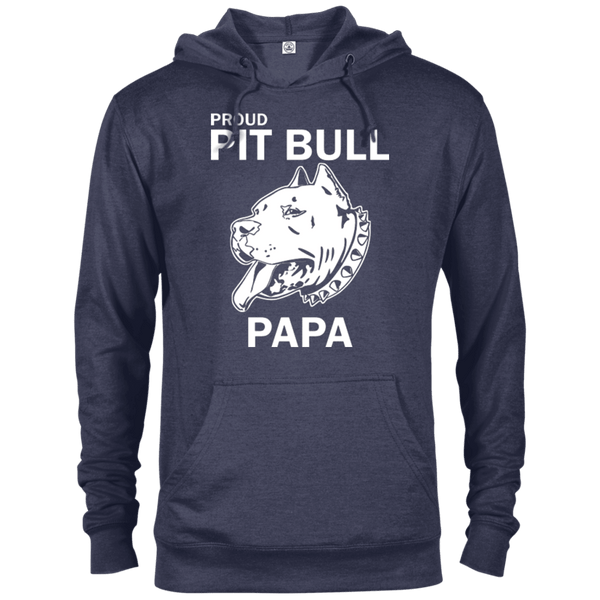 Proud Pit Bull Papa - 97200 Delta French Terry Hoodie Dark Denim Heather X-Small - Little Pit Shop