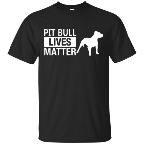 Pit Bull Lives Matter - G200 Gildan Ultra Cotton T-Shirt Black Small - Little Pit Shop
