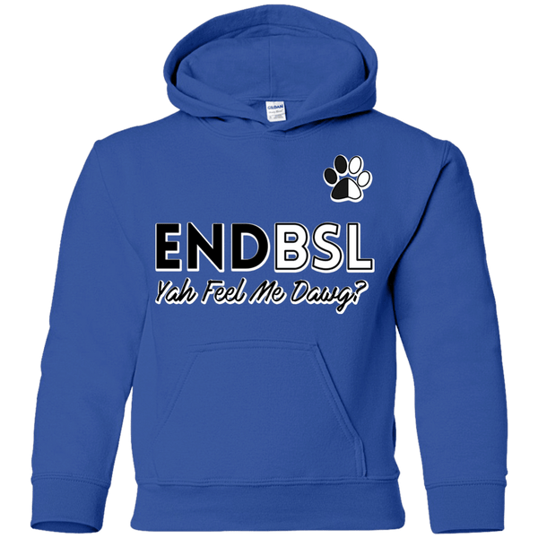 End BSL - G185B Gildan Youth Pullover Hoodie Royal YS - Little Pit Shop