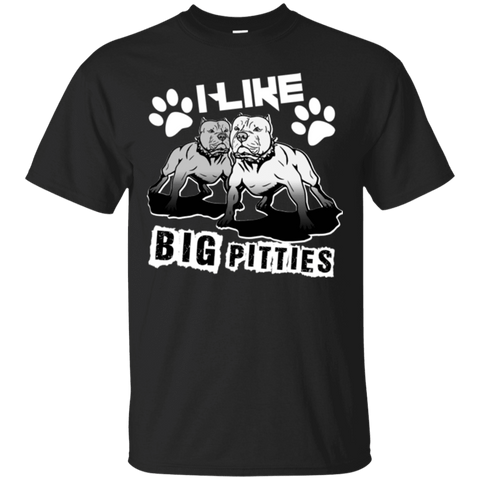 I Like Big Pitties Lt - G200 Gildan Ultra Cotton T-Shirt Black Small - Little Pit Shop