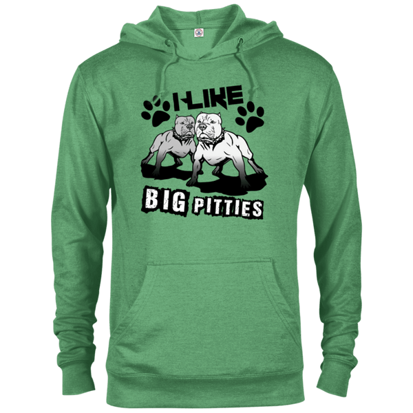 I Like Big Pitties Drk - 97200 Delta French Terry Hoodie Kelly Heather X-Small - Little Pit Shop
