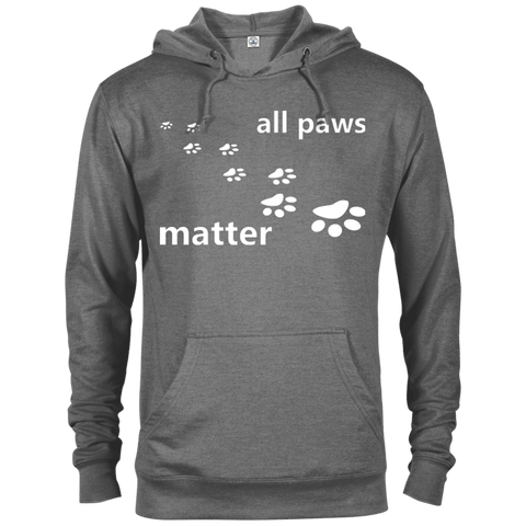 All Paws Matter - 97200 Delta French Terry Hoodie Dark Graphite Heather X-Small - Little Pit Shop
